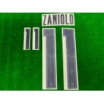 Official ZANIOLO #11 Italy FIGC AWAY EURO 2020 2020-21 PRINT