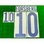 Official FORSBERG #10 SWEDEN Home EURO 2020 2010-21 PRINT