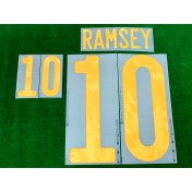 Official RAMSEY #10 WALES Home EURO 2020 2010-21 PRINT