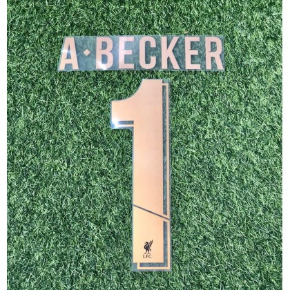 Official A.BECKER #1 Liverpool FC Home GK CUP UCL 2019-20 PRINT