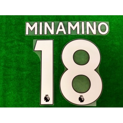 Official MINAMINO #18 Liverpool Home PLAYER SIZE 2019-20 EPL PRINT