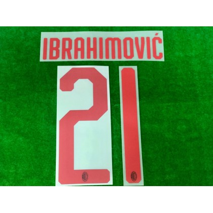 Official IBRAHIMOVIC' #21 AC Milan Away 2019-20 Name Number