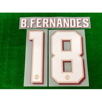 Official B.FERNANDES #18 Manchester United FC Home CUP 2019-20 PRINT