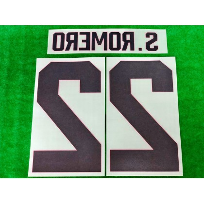 PLAYER ISSUE Official S.ROMERO #22 Manchester United FC Home GK CUP 2019-20 PRINT