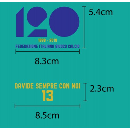Italy FIGC 120 years Anniversary + DAVIDE SEMPRE CON NOI Reproduction match details
