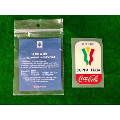 Official COCA COLA COPPA ITALIA FINALE 2019-20 Player Size Sleeve Patch