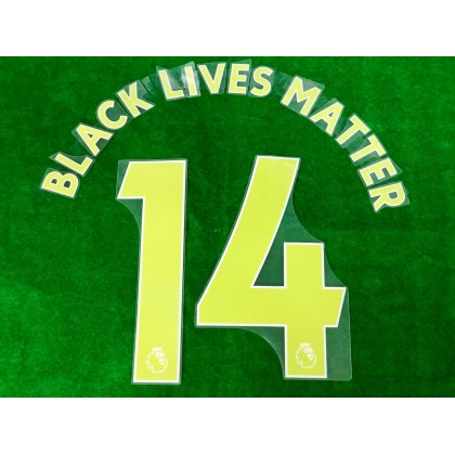 Official BLACK LIVES MATTER EPL YELLOW PRINT