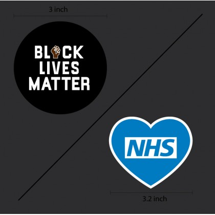 BLACK LIVES MATTER + NHS Reproduction Patches (Second version)