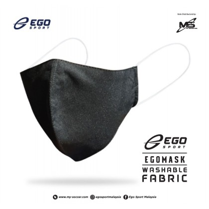 Ego Sport Adult Washable Protection Black Fabric Mask (FREE SIZE)