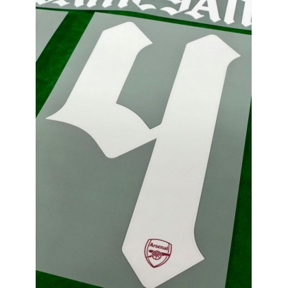 Official AUBAMEYANG #14 Arsenal FC Home CUP 2020-21 PRINT