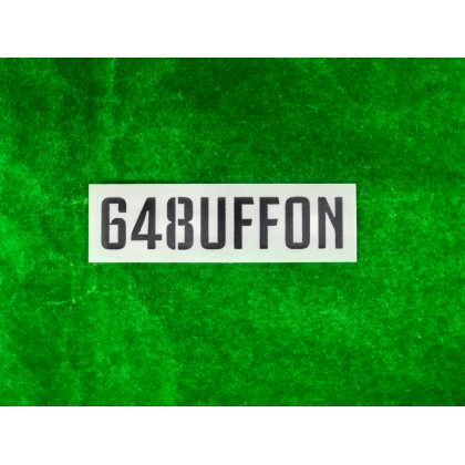 Official 648UFFON Juventus FC Home 2019-20 (BLACK) Sleeve Print