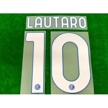 Official LAUTARO #10 Inter Milan Home 2020-21 PRINT