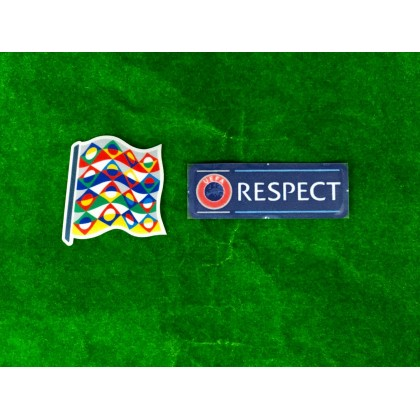 Official UEFA NATIONS LEAGUE 2020 + RESPECT Patches