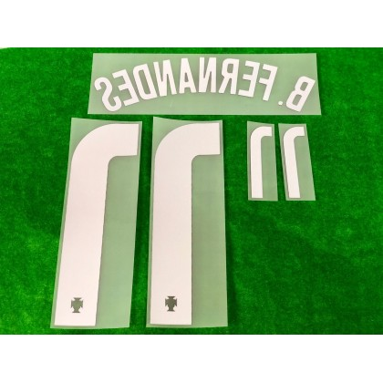 Official B.FERNANDES #11 Portugal FPF Home 2020-21 PRINT
