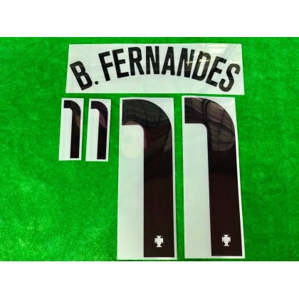 Official B.FERNANDES #11 Portugal FPF Away 2020-21 PRINT