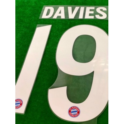 Official DAVIES #19 FC Bayern Munich Home 2020-21 PU PRINT