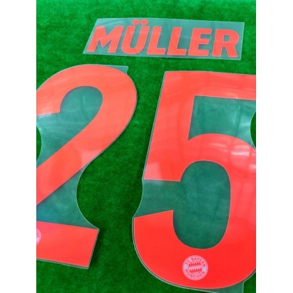 Official MULLER #25 FC Bayern Munich Away 2020-21 PU PRINT