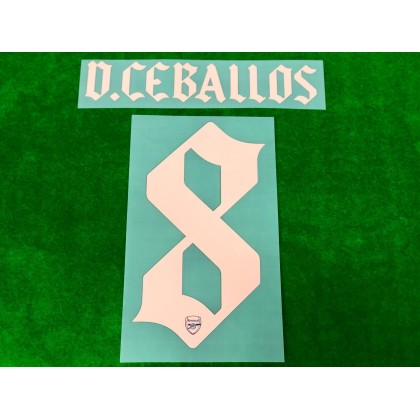 Official D.CEBALLOS #8 Arsenal FC 3rd CUP 2020-21 PRINT