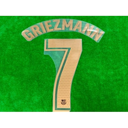 OFFICIAL PLAYER ISSUE GRIEZMANN #7 FC Barcelona Away 2020-21 PRINT