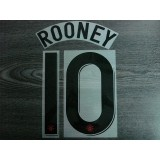 Official ROONEY #10 Manchester United Away UCL 2012-13 Print