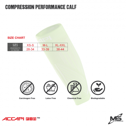 ACCAPI NN780 Compression Performance Calf Sleeve PINK