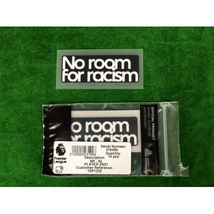 Official NO ROOM FOR RACISM EPL 2020-21 PLAYER SIZE Patch