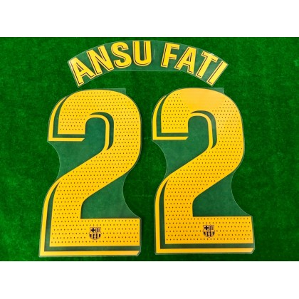 OFFICIAL PLAYER ISSUE ANSU FATI #22 FC Barcelona Home 2020-21 PRINT