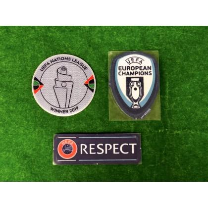 Official Portugal FPF UEFA Nations League 2020 Patches