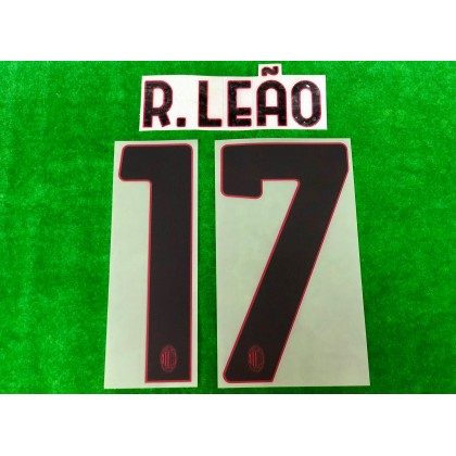 Official R.LEAO #17 AC Milan Away 2020-21 Name Number