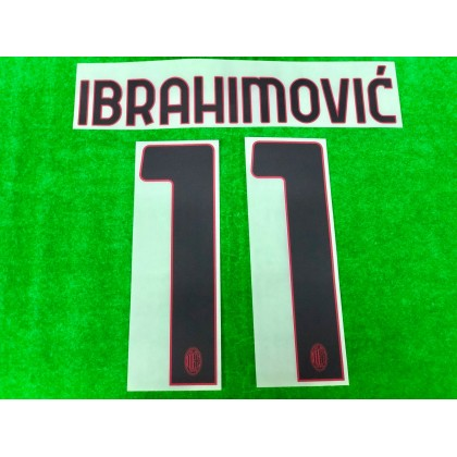 Official IBRAHIMOVIC' #11 AC Milan Away 2020-21 Name Number