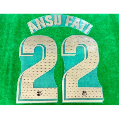 OFFICIAL PLAYER ISSUE ANSU FATI #22 FC Barcelona Away 2020-21 PRINT