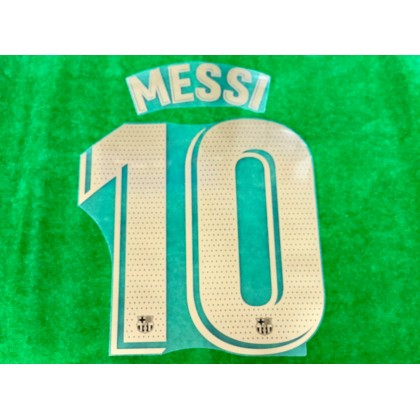 OFFICIAL PLAYER ISSUE MESSI #10 FC Barcelona Away 2020-21 PRINT