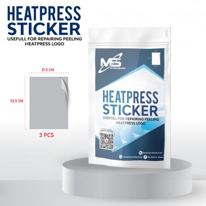 MY-SOCCER Heatpress Sticker (21.5 x 23.5 cm x 3 pieces) Big Package