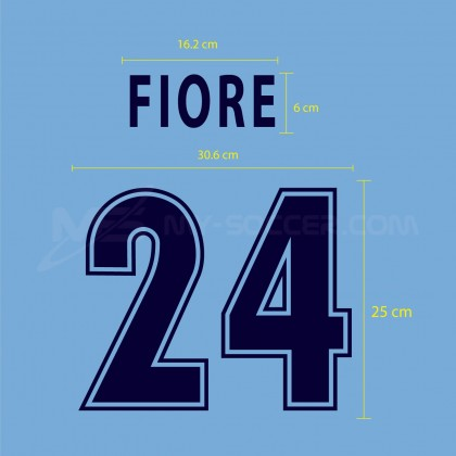 SS LAZIO Home 2001-2002 Reproduction Flock PRINT