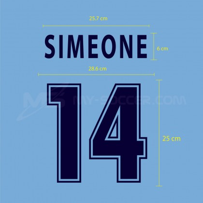 SS LAZIO Home 2000-2001 Reproduction Flock PRINT