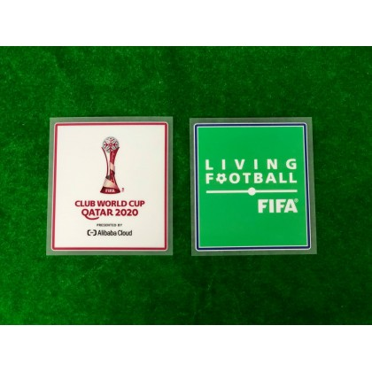 Official FIFA CLUB WORLD CUP QATAR 2020 + LIVING FOOTBALL Patches