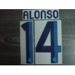 Official ALONSO #14 Real Madrid Home 2012-13 SPORTING ID Print