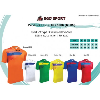 EGO SPORT EG 5086 KIDS Team Wear Football / Futsal Jersey