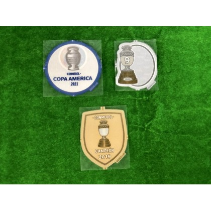 Official Player Issue Brazil COPA AMERICA 2021 Sleeves Patches