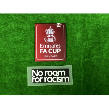 Official The Emirates FA Cup 150 years 2021-22 Winners 14 + NO ROOM FOR RACISM Patches