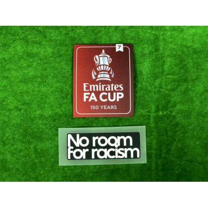 Official The Emirates FA Cup 150 years 2020-21 Winners 7 + NO ROOM FOR RACISM Patches