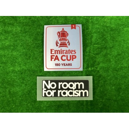 Official The Emirates FA Cup 150 years 2020-21 Holder Winners 1 + NO ROOM FOR RACISM Patches