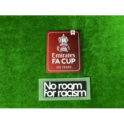 Official The Emirates FA Cup 150 years 2020-21 Winners 6 + NO ROOM FOR RACISM Patches