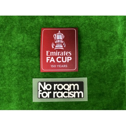 Official The Emirates FA Cup 150 years 2020-21 + NO ROOM FOR RACISM Patches