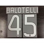 Official BALOTELLI #45 AC Milan Home 2012-14 Name Number