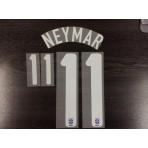 Official NEYMAR #11 Brazil Away 2013-14 Name Number