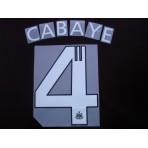 Official CABAYE #4 Newcastle Away EUROPA League 2012-13 PRINT