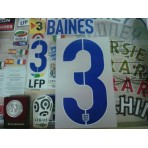 Official BAINES #3 England Home World Cup 2014 2014-16 PU PRINT