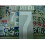 Official DEL PIERO #7 Italy Home World Cup 2014 2014-16 PRINT