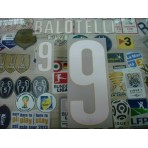 Official BALOTELLI #9 Italy Home World Cup 2014 2014-16 PRINT